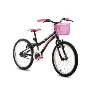 Bicicleta Houston Nina Aro 20, Freios V-Brake e Quadro de Aço R$359