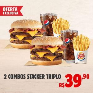 Burger King 2 combos Stacker triplo por39,90