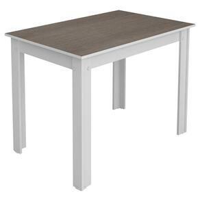 Mesa de Jantar Madesa Rubia Maxi 5258B - 76x104cm Branco / Âmendoa