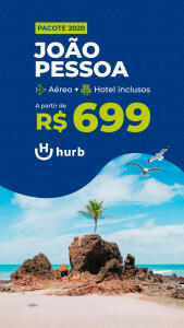Pacote para João Pessoa saindo do RJ - R$699