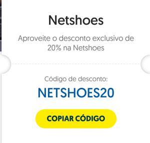 20% de desconto na Netshoes pagando com o Ourocard