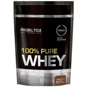 100% Pure Whey Protein Refil 825g Chocolate - Probiótica   R$39