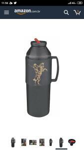 (Frete grátis prime) Garrafa Térmica 1 litro