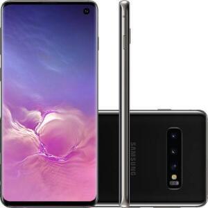 "Smartphone Samsung Galaxy S10 512GB Dual Chip Android 9.0 Tela 6,1"" Octa-Core 4G Câmera 12MP - Preto R$3199"