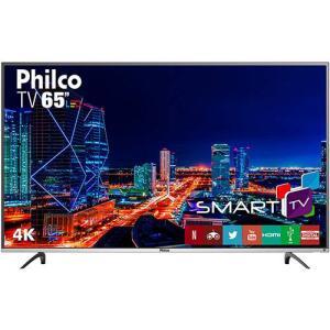 "Smart TV LED 65"" Philco PTV65f60DSWN 4K - R$3.077"