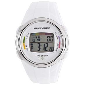 Relógio Digital Unissex Guepardo Master White UV OE0400 - Branco