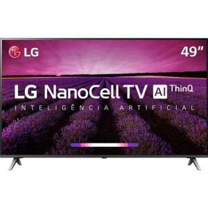 [APP] Smart TV LED LG 49'' 49SM8000 Ultra HD 4K NanoCell com Conversor Digital 4 HDMI 3 USB Wi-Fi 240Hz - Preta (AME R$1795)