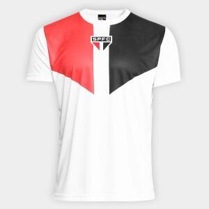 Camisa São Paulo Tricolor Masculina - Branco - R$40