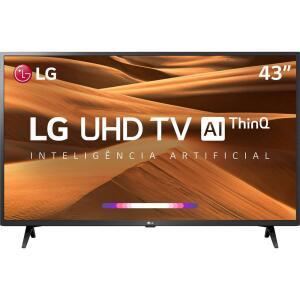 Smart TV Led 43'' LG 43UM7300 Ultra HD 4K Thinq AI Conversor Digital Integrado 3 HDMI 2 USB Wi-Fi com Inteligência Artificial