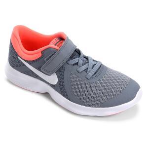 Tênis Nike Infantil Revolution 4 - Cinza e Salmão