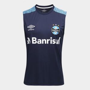 Camisa Regata Umbro Grêmio Treino 18 Masculina - Marinho e Azul