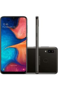 [APP + Cupom + AME + 1x no cartão] Smartphone Samsung Galaxy A20 32GB - R$ 555,98