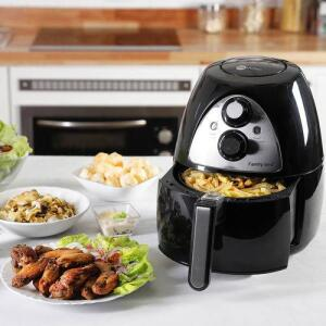 Fritadeira Air Fryer 3,2L Preta Fun Kitchen | R$190