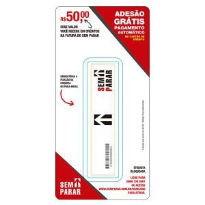 Etiqueta Eletrônica Sem Parar com R$50 de Crédito