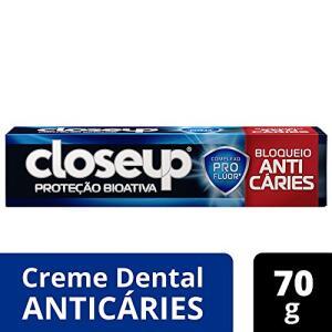 [ PRIME] Creme Dental CLOSE UP Proteção Bioativa Bloqueio Anticáries 70G - R$3
