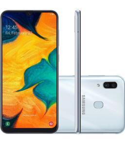 [APP + AME + CC Americanas = R$666,75] Samsung Galaxy A30 64GB Branco
