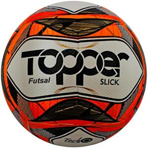 Bola Topper Slick II Futsal Vermelha Neon | R$35