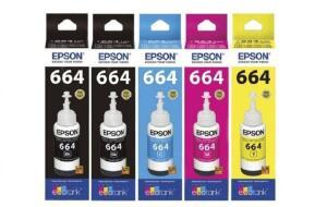 Kit 5 Tintas Epson Original L395 L375 L365 L220 L455 L355 - R$ 16,15