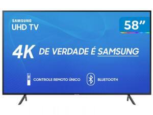 "Smart TV 4K LED 58"" Samsung UN58RU7100 | R$2.479"