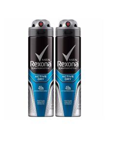 Kit com 2 Desodorantes Rexona Men MotionSense Active Dry