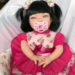 Boneca Bebê Tipo Reborn Realista - Kit Acessórios | R$80