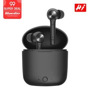 Bluedio fones de ouvido sem fio bluetooth com caixa de carregamento | R$80