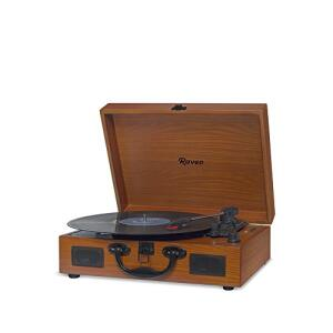 [Prime] Vitrola com USB e Bluetooth, Raveo, Sonetto Wood, 10W R$ 299