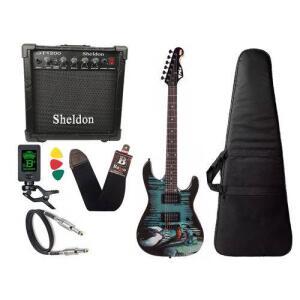 [C. Americanas] Kit Guitarra Venom Marvel Phx Cubo Amplificador Sheldon | R$663