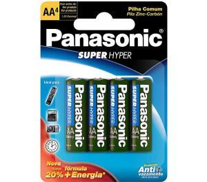 [AMAZON PRIME] 4 pilhas AA Panasonic. R$ 4,84