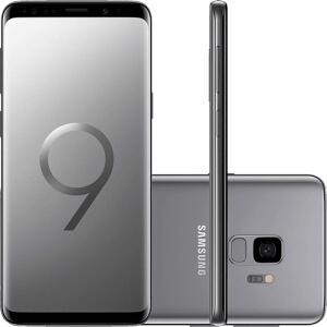 "(App) (CC Americanas) Smartphone Samsung Galaxy S9 Dual Chip Android 8.0 Tela 5.8"" Octa-Core 2.8GHz 128GB 4G Câmera 12MP - Cinza"