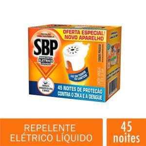 [Prime] Repelente Elétrico Líquido 45 Noites Kit Com Aparelho e Refil, SBP - R$13