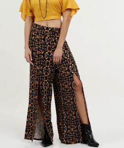 Calça Feminina Estampa Floral Pantalona Marisa R$30