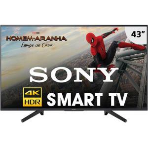 "Smart TV LED 43"" Sony KD-43X705F 4k por R$ 1396"