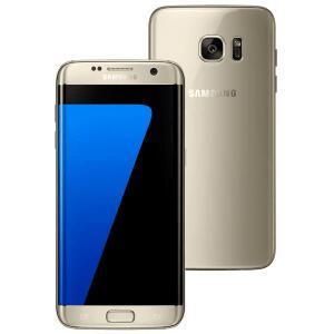 """Samsung Galaxy S7 edge Dourado com 32GB, Tela 5.5"""", Android 6.0, 4G, Câmera 12MP e Processador Octa-Core"""