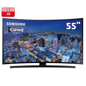 "Smart TV LED Curved 55"" Ultra HD 4K Samsung 55JU6700 com UHD Upscaling, Quad Core, Wi-Fi, Entradas HDMI e USB"