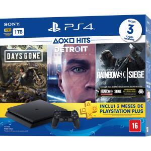 Playstation 4 Slim 1TB + 3 Jogos Gratis