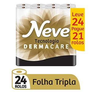 [PRIME] Papel Higiênico Folha Tripla Neve, 24 Rolos | R$28