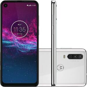 (APP) Motorola One Action - Branco Polar R$ 1089