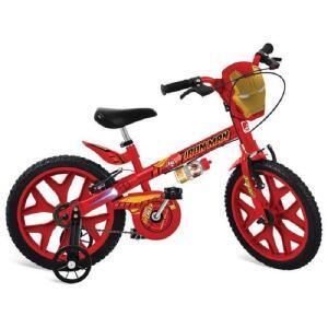 [AME 70%] Bicicleta Aro 16 Com Rodinhas Homem De Ferro Vingadores R$ 467