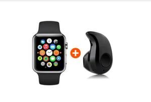 Kit Relógio Inteligente A1 Mini Fone De Ouvido Sem Fio Bluetooth - R$69