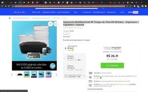 Impressora Multifuncional HP Tanque de Tinta 416 Wireless - Impressora + Copiadora + Scanner