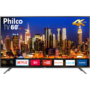 "[CC Americanas] Smart TV LED 60"" Philco PTV60F90DSWNS Ultra HD 4K | R$2.319"