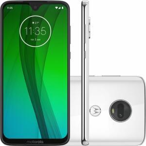 "(710 com AME) Smartphone Motorola Moto G7 64GB Dual Chip Android Pie - 9.0 Tela 6.24"" 1.8 GHz Octa-Core 4G Câmera 12 + 5MP - Branco Polar"