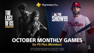 [PS Plus] Jogos Grátis de Outubro - The Lasf of Us™ Remastered / MLB® The Show™ 19