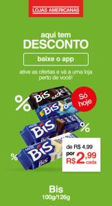 [App + Loja Física] BIS 100G/126G - R$3