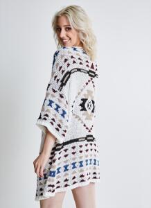 Kimono com Estampa Étnica R$80