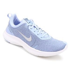 Tênis Feminino Nike Flex Experience Rn 8 - Azul e Prata