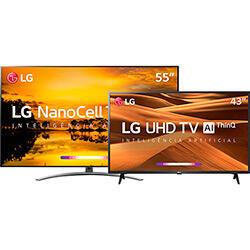 """Smart TV LG 55'' 55SM9000 4K + Smart TV 43"""" LG 43UM7300PSA 4K"""