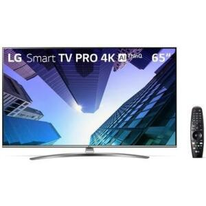 Smart TV LED 65´ 4K LG, 4 HDMI, 2 USB, Bluetooth, Wi-Fi, Active HDR, ThinQ AI - 65UM761C0SB.BWZ