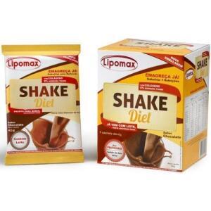 Lipomax Shake Diet Sabor Chocolate 40g Com 7 Sachês